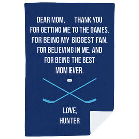 Hockey Premium Blanket - Dear Mom Heart