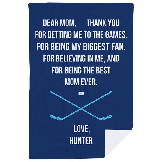 Hockey Premium Blanket - Dear Mom Heart