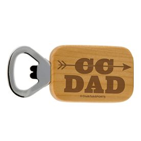 Cross Country Dad Maple Bottle Opener