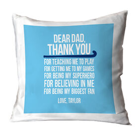 Field Hockey Pillow Dear Dad