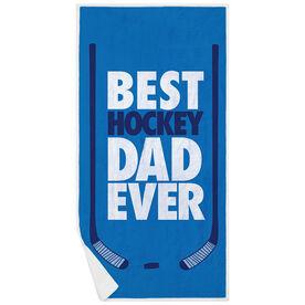 Hockey Premium Beach Towel - Best Dad Ever