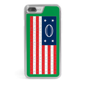 Rugby iPhone® Case - American Flag