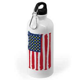 Softball 20 oz. Stainless Steel Water Bottle - American Ball And Bats Flag