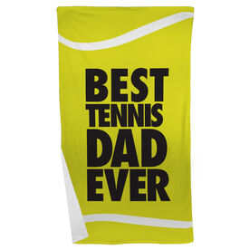 Tennis Beach Towel Best Dad Ever