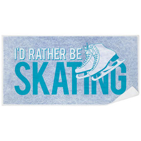 Figure Skating Premium Beach Towel - I'd Rather Be Skating