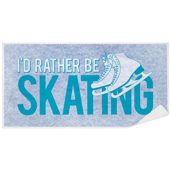 Figure Skating Premium Beach Towel - I'd Rather Be Skating