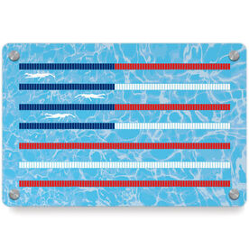 Swimming Metal Wall Art Panel - American Flag
