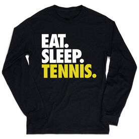 Tennis Tshirt Long Sleeve - Eat. Sleep. Tennis