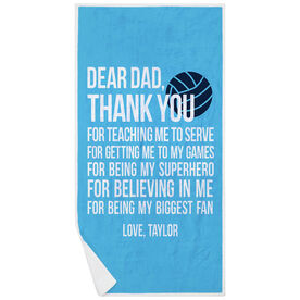 Volleyball Premium Beach Towel - Dear Dad