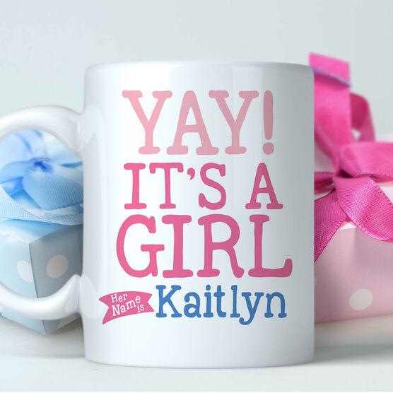 Yay! It's A Girl Personalized Mug
