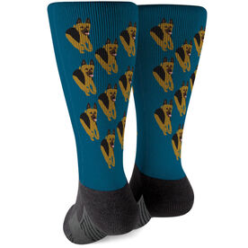 Printed Mid-Calf Socks - German Shepherd