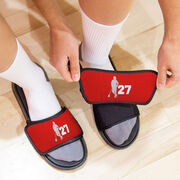 Guys Lacrosse Repwell® Slide Sandals - Latitude Lax Player with Number