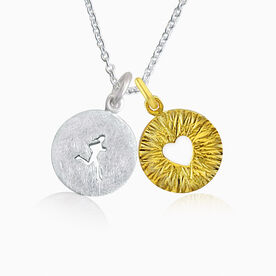 Livia Collection Sterling Silver and 14K Gold Vermeil Runner Girl Triumph Necklace
