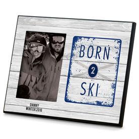Skiing Photo Frame Born 2 Ski