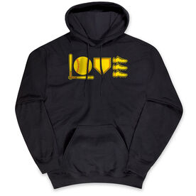 Softball Hooded Sweatshirt - Love To Play