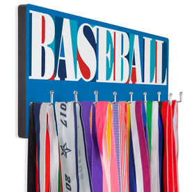 Baseball Hooked on Medals Hanger - Baseball Mosaic