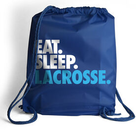 Lacrosse Sport Pack Cinch Sack Eat. Sleep. Lacrosse.