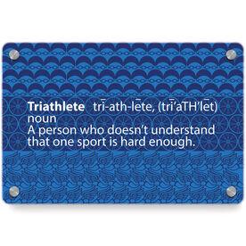 Triathlon Metal Wall Art Panel - Triathlete Definition