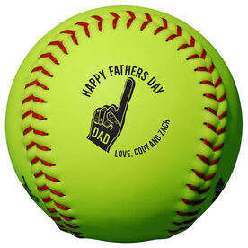Personalized Softball - Father's Day