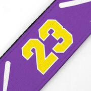 Softball Juliband No-Slip Headband - Crossed Bats and Number
