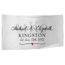 Personalized Beach Towel - Monogram Wedding Anniversary
