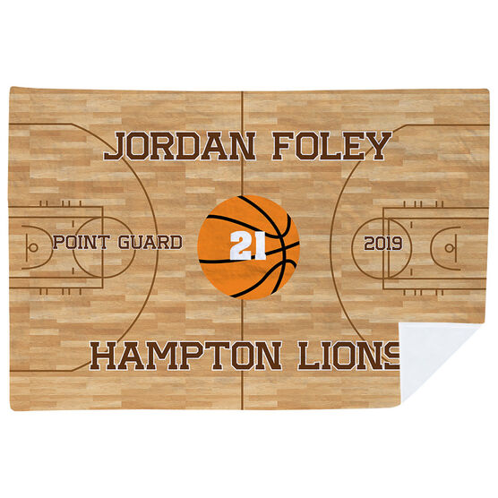 Basketball Premium Blanket - Personalized Basketball Team