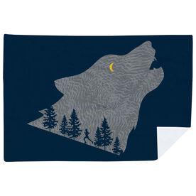 Running Premium Blanket - Run Wild Wolf