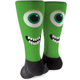 Printed Mid-Calf Socks - Monster Eyes