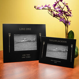 Crew Engraved Picture Frame - Side Oars