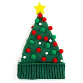Happy Hatter Christmas Tree Knit Beanie Hat