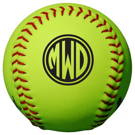 Personalized Softball - Monogram