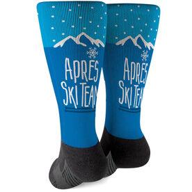 Skiing Printed Mid-Calf Socks - Après Ski Team