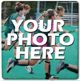 "Custom Field Hockey Photo - 4""x4"" - Stone Coaster"