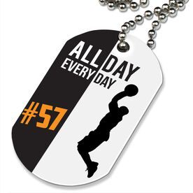 Basketball Printed Dog Tag Necklace Personalized All Day Every Day