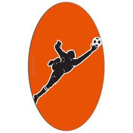 Soccer Oval Car Magnet Goalie