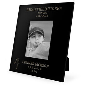 Baseball Engraved Picture Frame - Pitcher Stats
