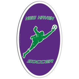 Soccer Oval Car Magnet Personalized Goalie