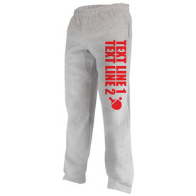 Ping Pong Fleece Sweatpants Your Text Here