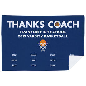 Basketball Premium Blanket - Thanks Coach (Horizontal)