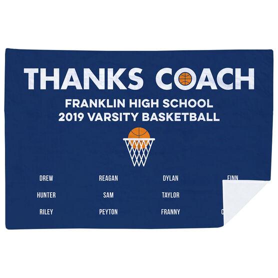 Basketball Premium Blanket - Thanks Coach (Horizontal)
