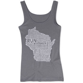 Women's Athletic Tank Top Wisconsin State Runner