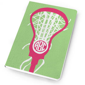 Girls Lacrosse Notebook Monogrammed Lax is Life