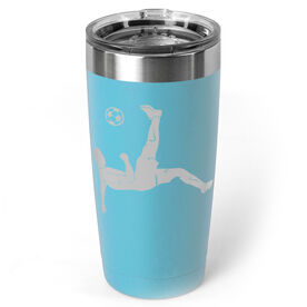 Soccer 20 oz. Double Insulated Tumbler - Male Silhouette