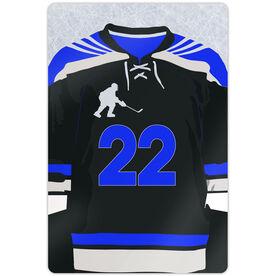 """Hockey Aluminum Room Sign (18""""x12"""") Personalized Hockey Jersey"""