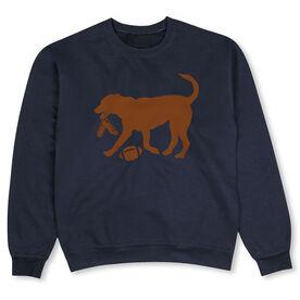 Football Crew Neck Sweatshirt - Flash The Football Dog