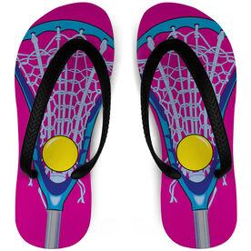 Girls Lacrosse Flip Flops Stick