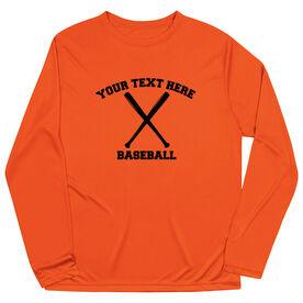 Baseball Long Sleeve Performance Tee - Custom Baseball