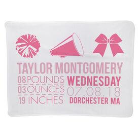 Cheerleading Baby Blanket - Birth Announcement