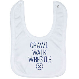 Wrestling Baby Bib - Crawl Walk Wrestle