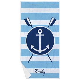 Crew Premium Beach Towel - Oars Anchor